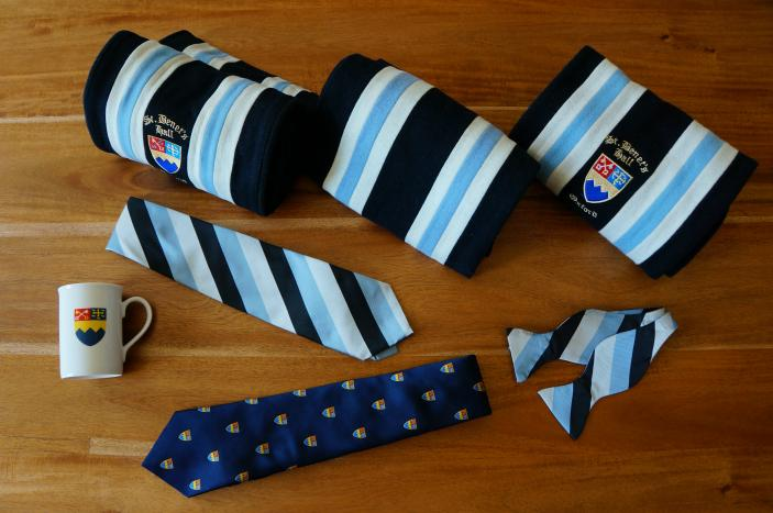 A selection of St Benet's Hall merchandise