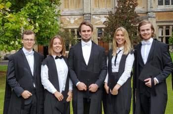 Balliol Aker Scholars on Matriculation Day
