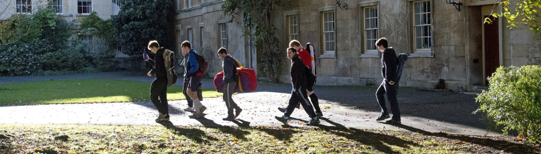 Balliol students in Main Quad