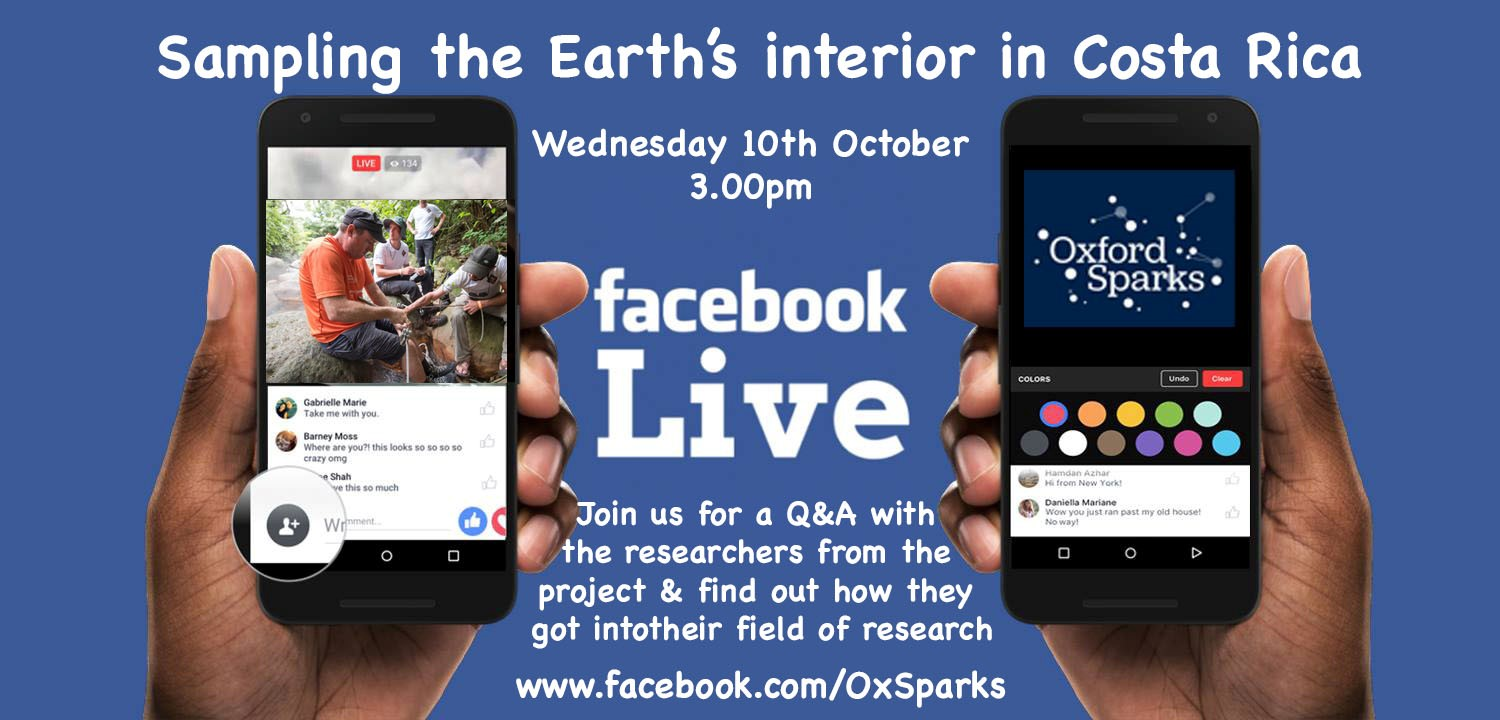 Oxford Sparks Facebook Live ad