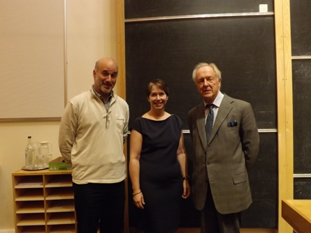 Dr Don Porcelli and Professor Lindy Elkins Tanton with Mr Lobanov-Rostovksy