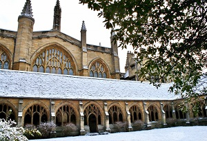 Christmas Card Cloisters Snow