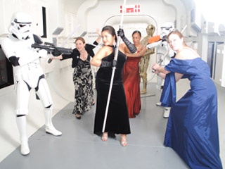 Oxford10 alumni enacting a scene from the Star Wars movie series