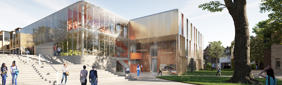 Architectural drawing of Back Quad Building project